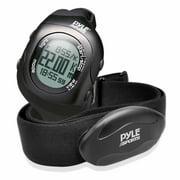 Pyle BT Fitness Heart Rate Monitoring Watch with Cordless Data Transmission and Sensor (Black)