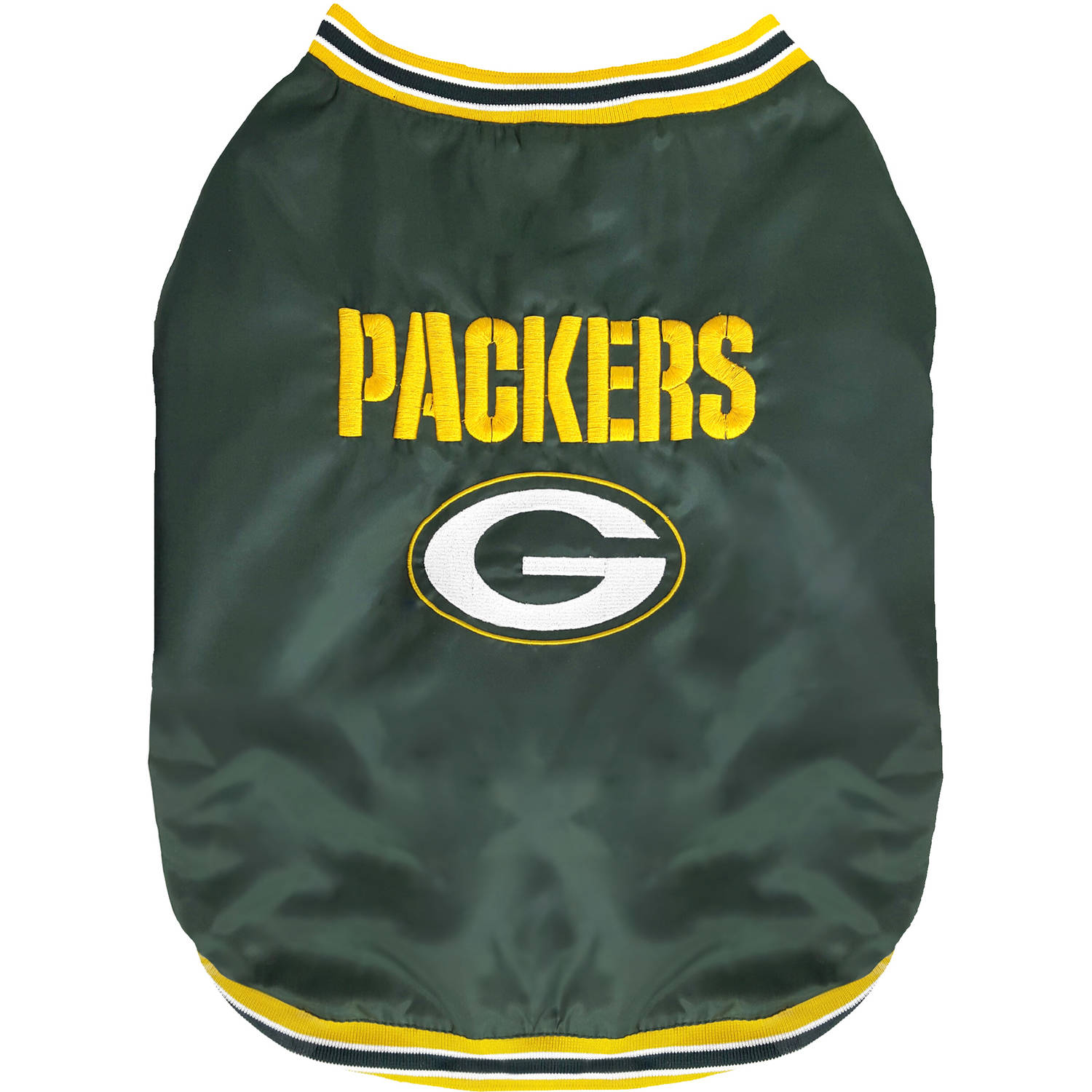 Pets First NFL Green Bay Packers Dugout Jacket for Dogs/Cats, 3 Sizes Available
