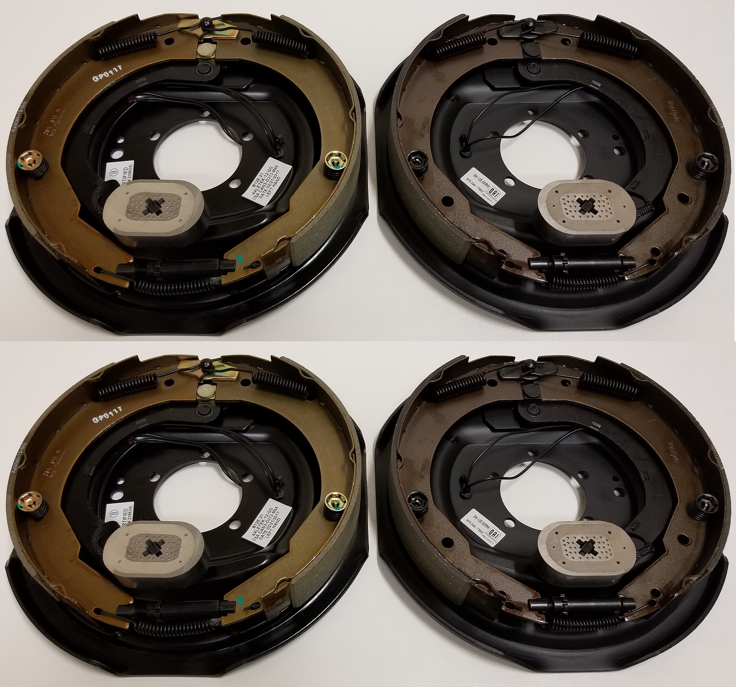 Four 12 in. x 2 in. Electric Brake Trailer Backing Plates (2 Left 2 Right)