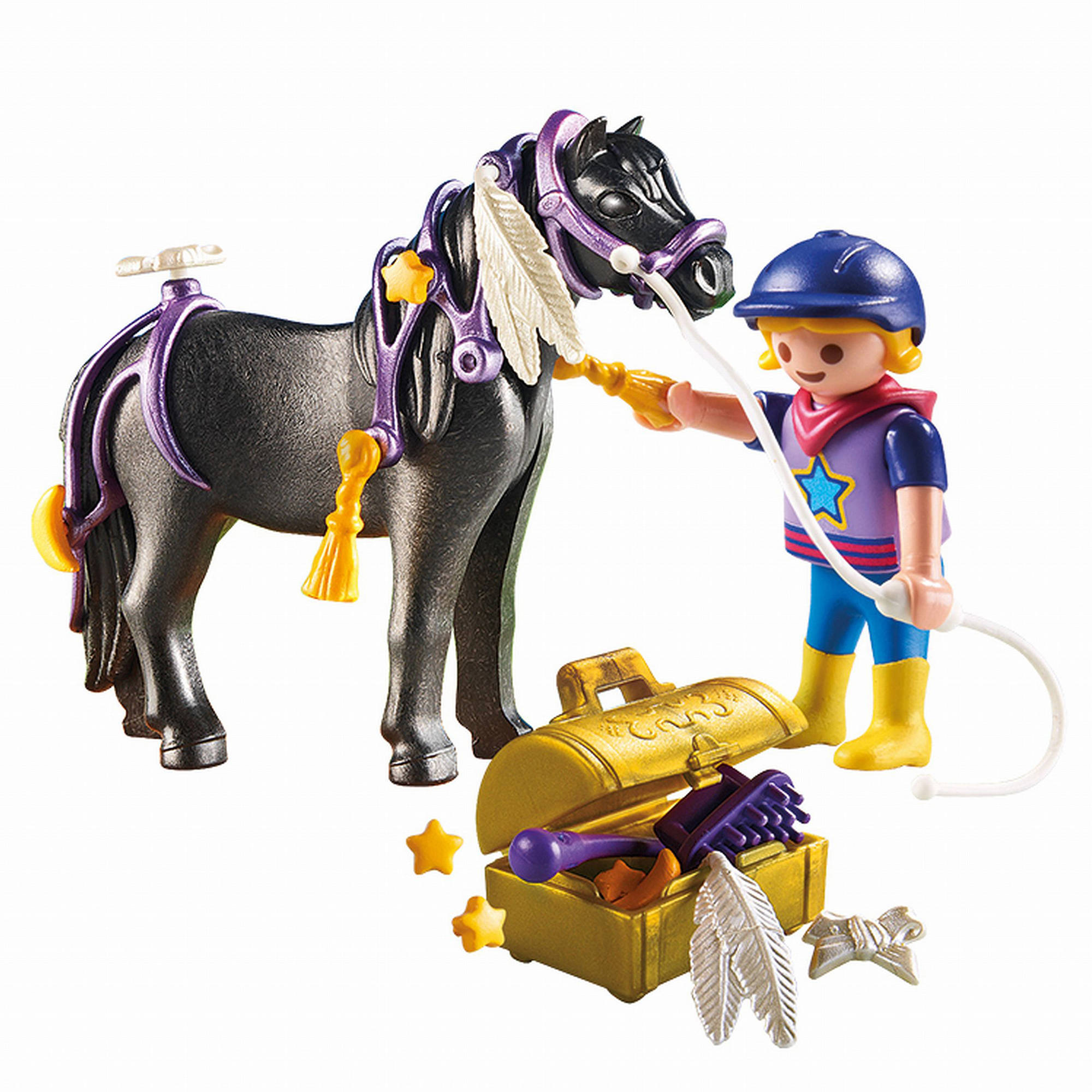 Playmobil Groomer With Star Pony