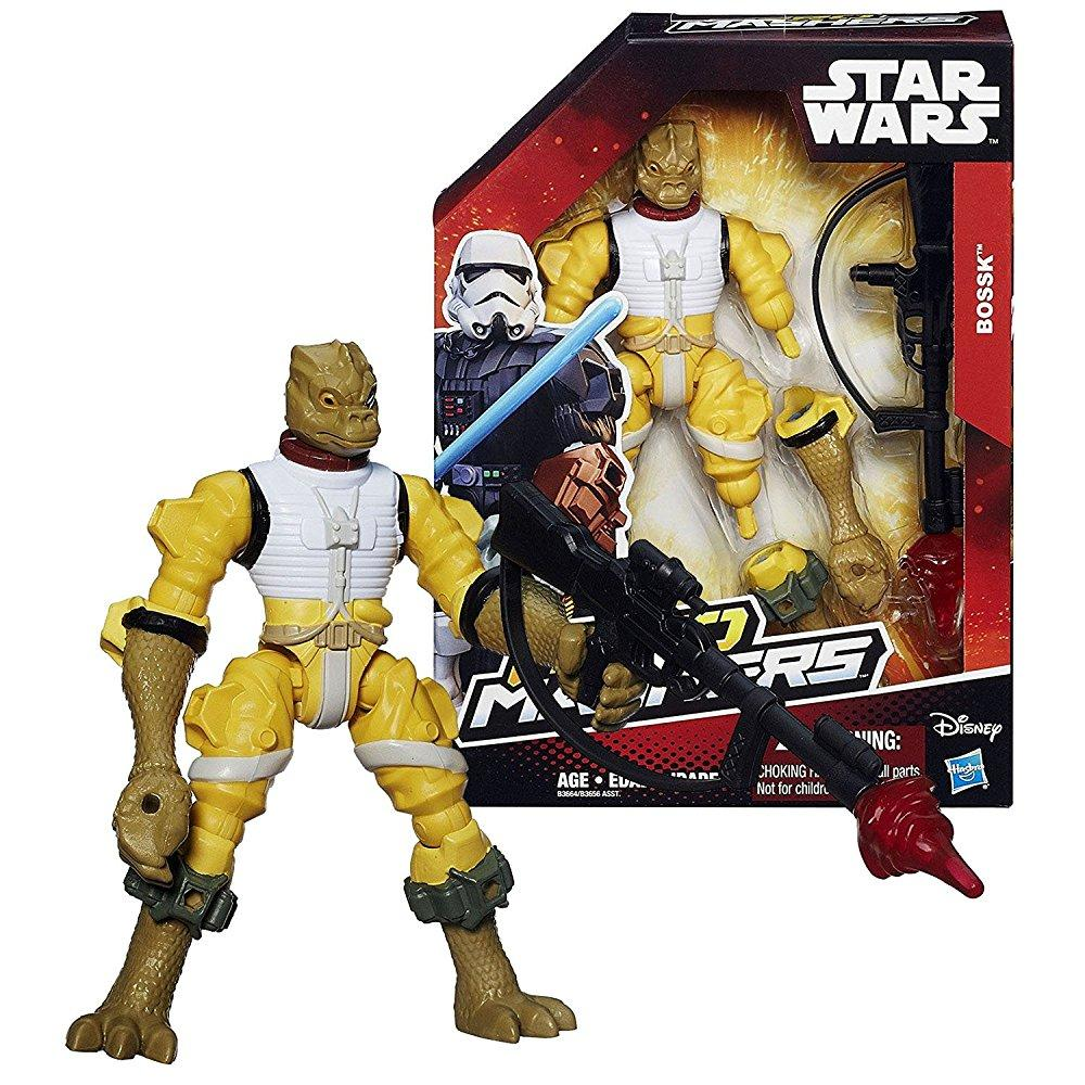 Star Wars Year 2015 Hero Mashers Series 6 Inch Tall Action Figure - Bounty Hunter BOSSK with Rifle