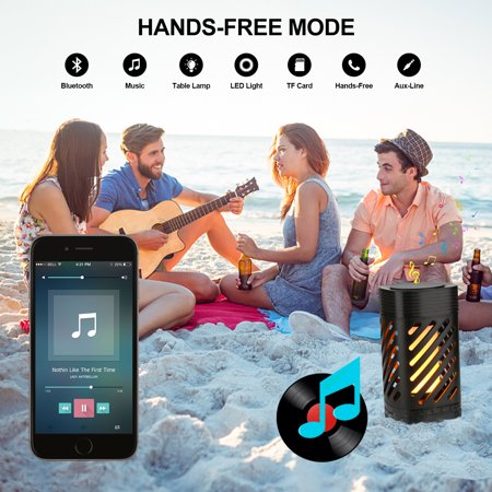 AGPtek Multi-function LED Speaker Smart Touch Camping Lamp MP3 Music Player with Flame Light for Travel&Home Party - image 6 of 7