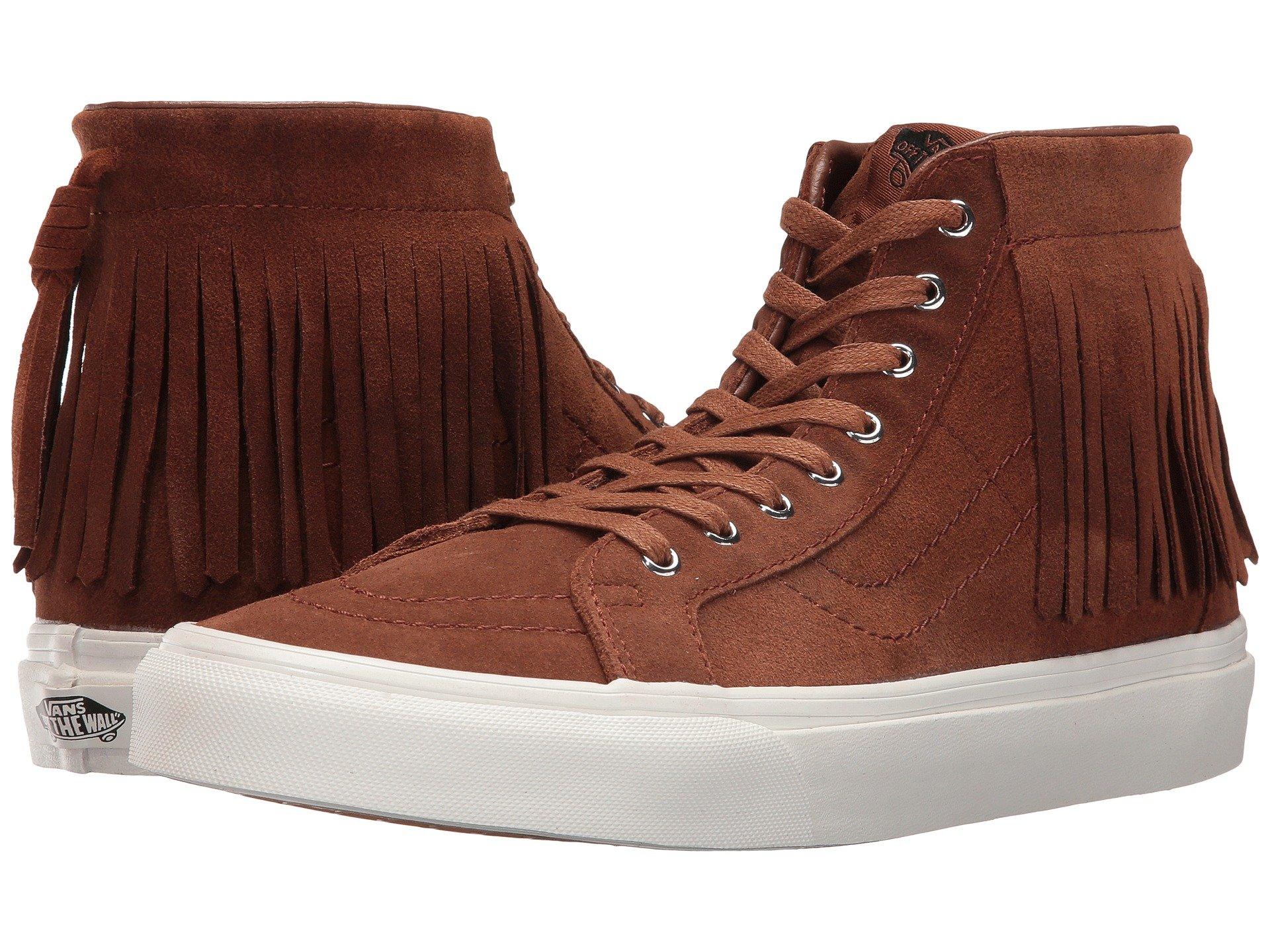 6e318ba172e801 Vans - Vans Sk8-Hi Moc Suede Black   Blanc De Ankle-High Fashion Sneaker -  9.5M 8M - Walmart.com