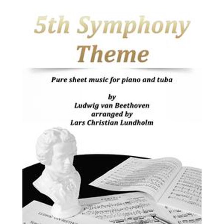 5th Symphony Theme Pure sheet music for piano and tuba by Ludwig van Beethoven arranged by Lars Christian Lundholm - eBook - Halloween Theme Sheet Music For Piano
