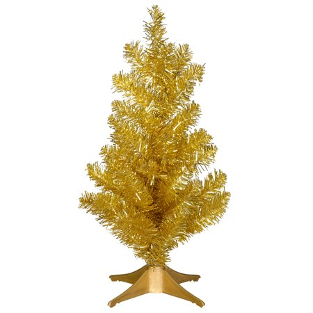 Mini Christmas Tree: Gold, 6 x 14 inches