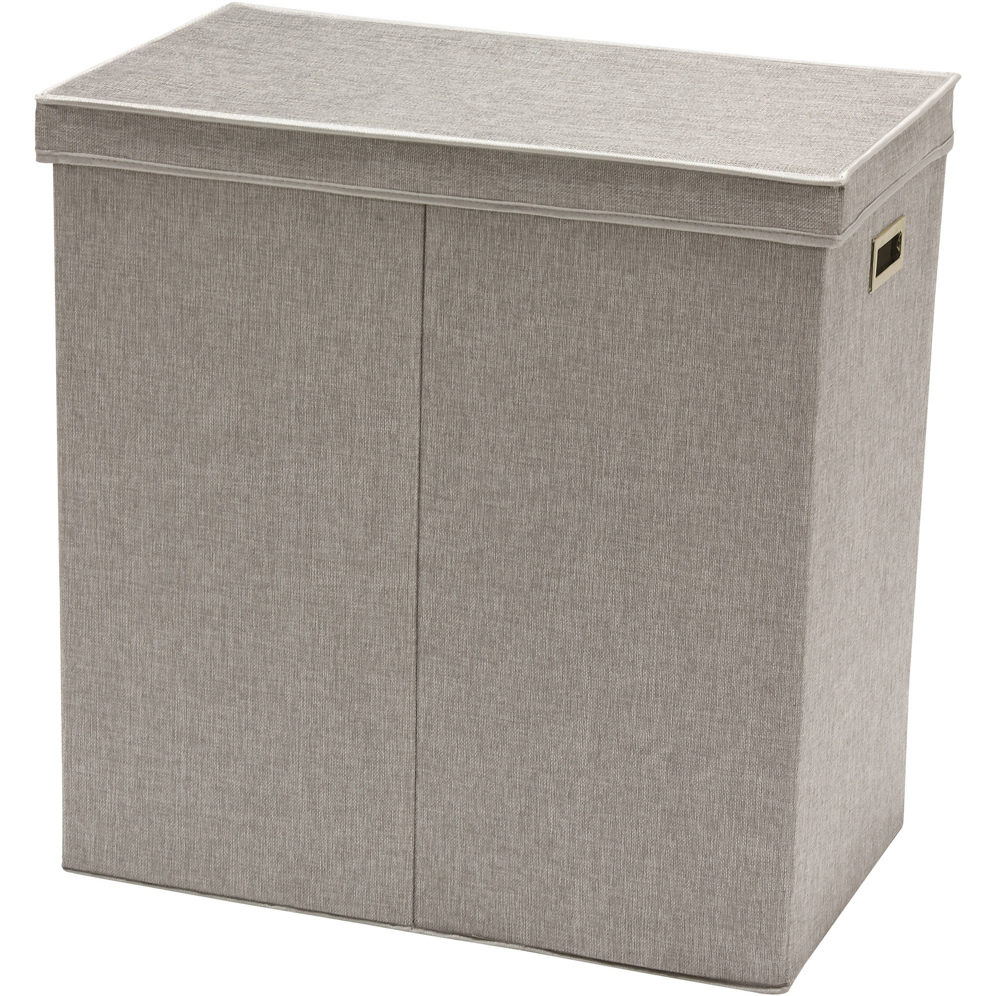Greenway GFL6000GR Collapsible Double Sorter Laundry Hamper, Grey Linen
