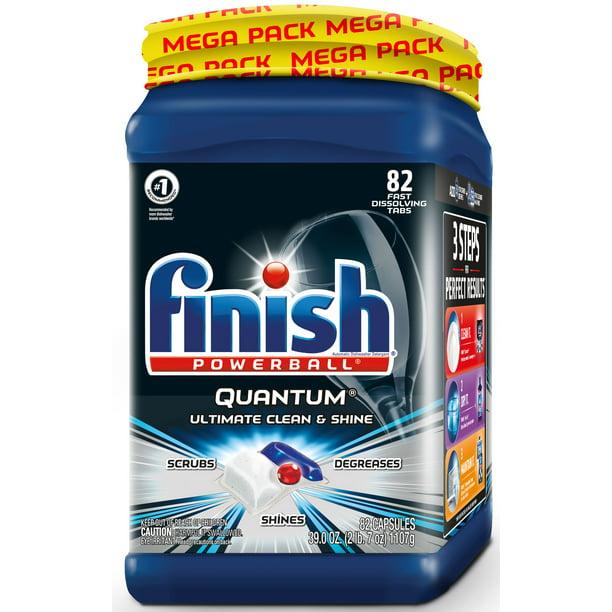 Finish Quantum, 82ct, Dishwasher Detergent Tabs, Ultimate Clean & Shine