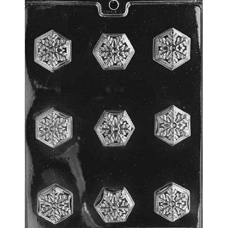 Grandmama's Goodies AO039 Christmas Snowflake Chocolate Candy Soap Mold with Exclusive Molding - Snowflake Candy