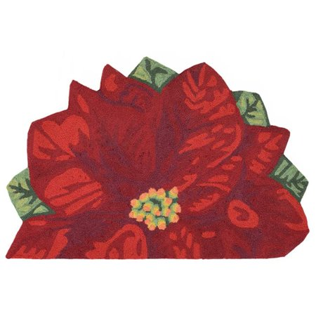 Trans-Ocean Imports FTPH2241124 24 x 36.5 in. Liora Manne Frontporch Poinsettia Indoor & Outdoor Rug - Red - image 1 of 1