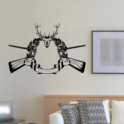 Deer Hunting Gun Rifle Vinyl Wall Art Decal Sticker
