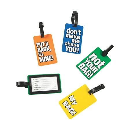 Fun Luggage Tags - Stationery - 12 Pieces Fun Luggage Tags - Stationery - 12 Pieces