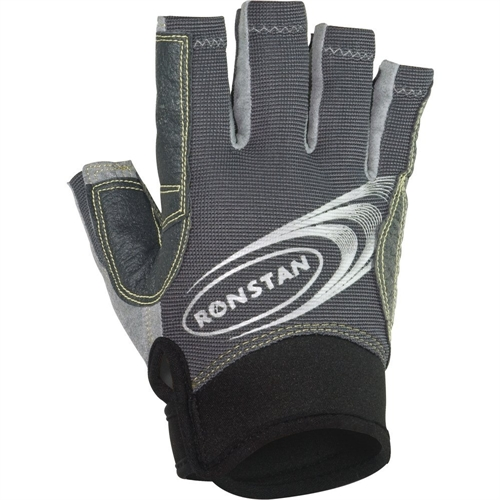 Ronstan Sticky Race Gloves with Cut Fingers - Gray - Small RF4880S