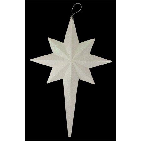 "20"" Winter White Glittered Bethlehem Star Shatterproof Christmas Ornament"