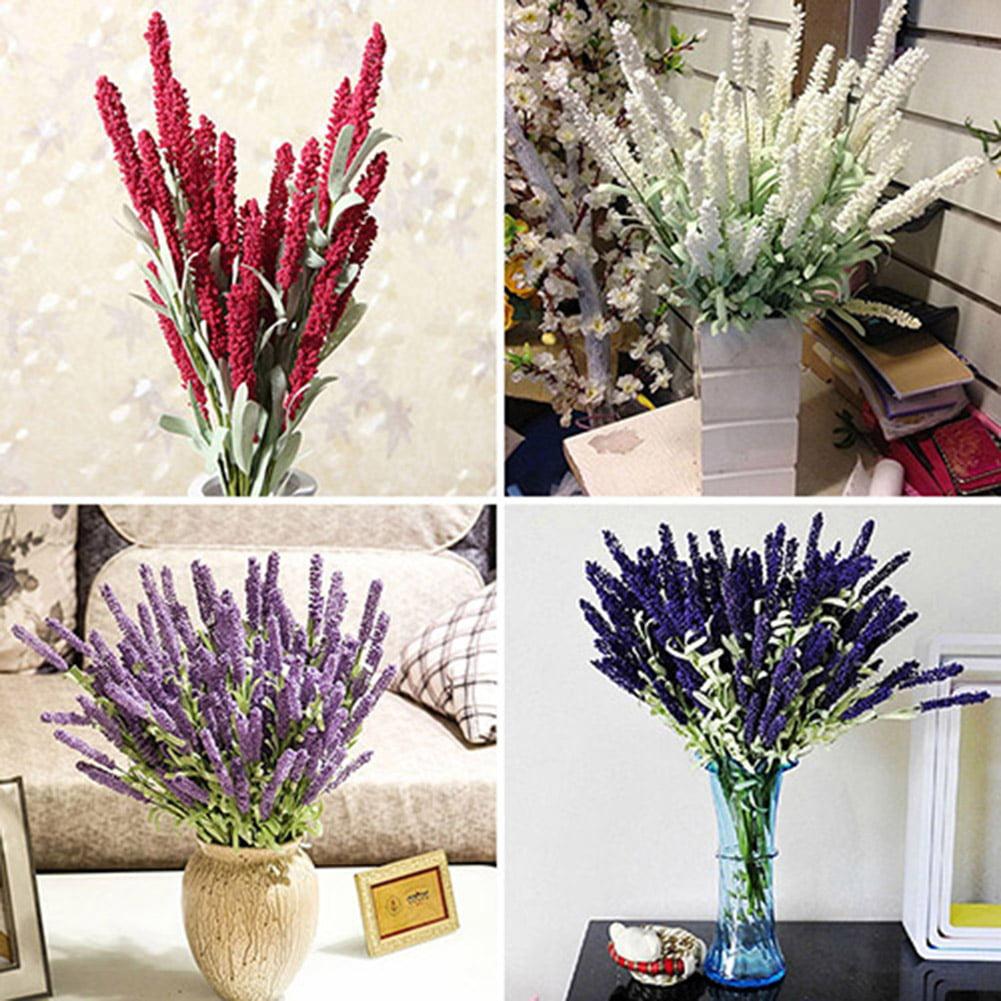 Moderna Home Decoration Wedding Silk Flowers High Simulation 12 Heads Lavender Bouquet