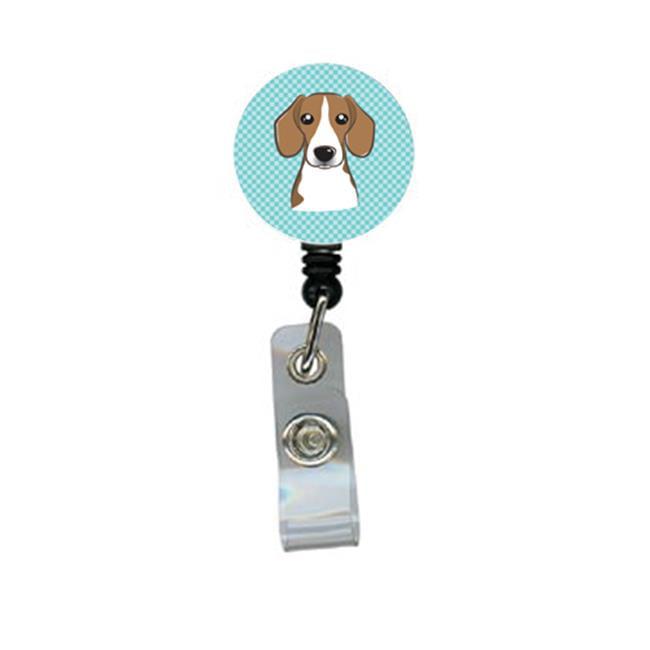 Checkerboard Blue Beagle Retractable Badge Reel - image 1 of 1