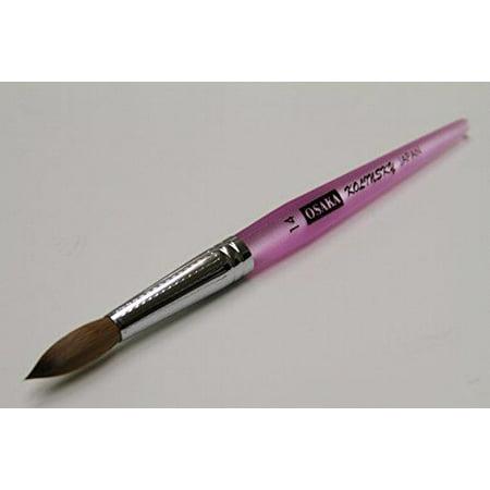 Kolinsky Art Brushes (Osaka Kolinsky Nail Brush with Purple Marble Acrylic Handle - Size 14 )