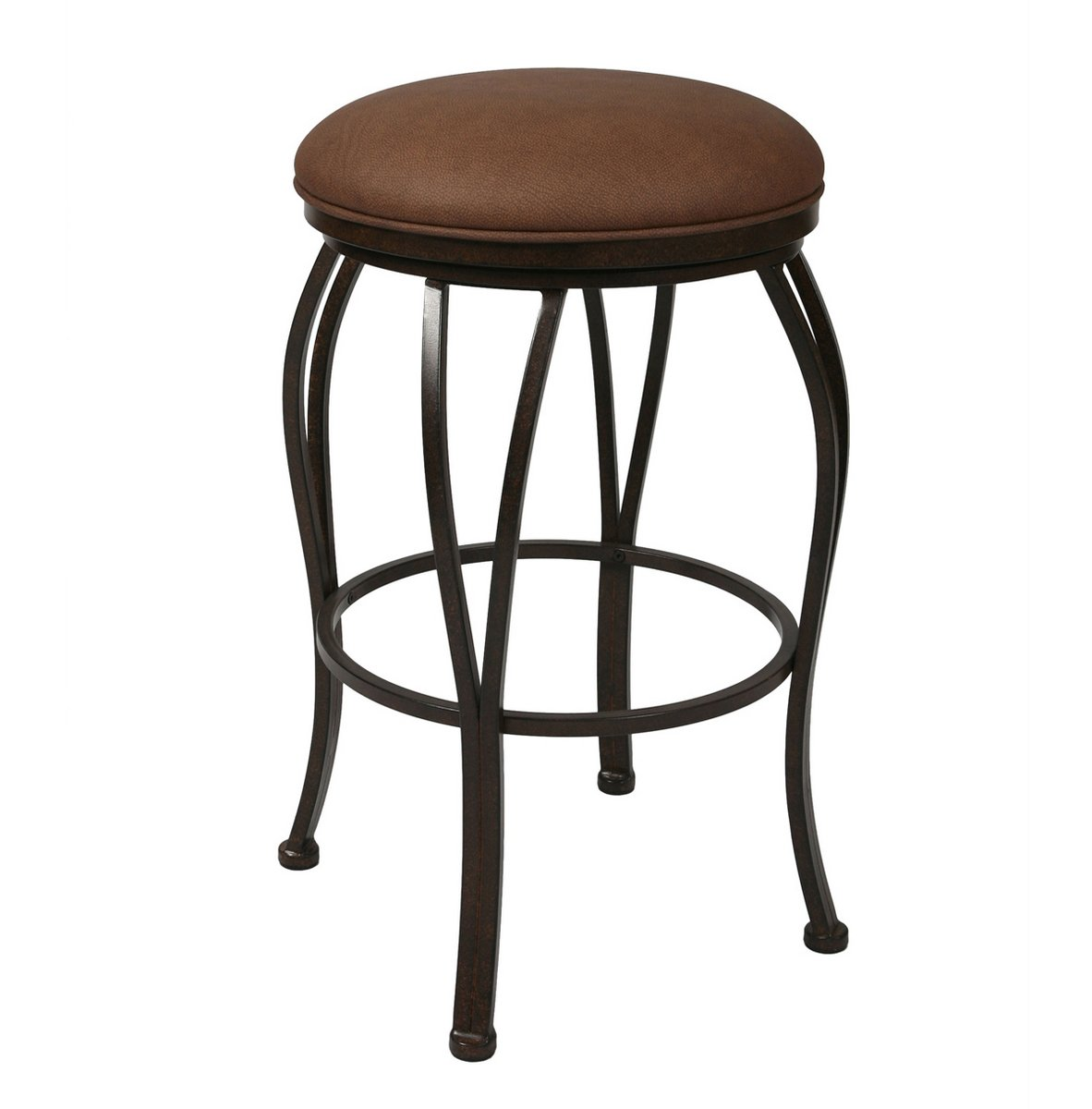 Pastel Lexington Backless Barstool - Autumn Rust - Moccasin Suede Seat - (30 Inch)