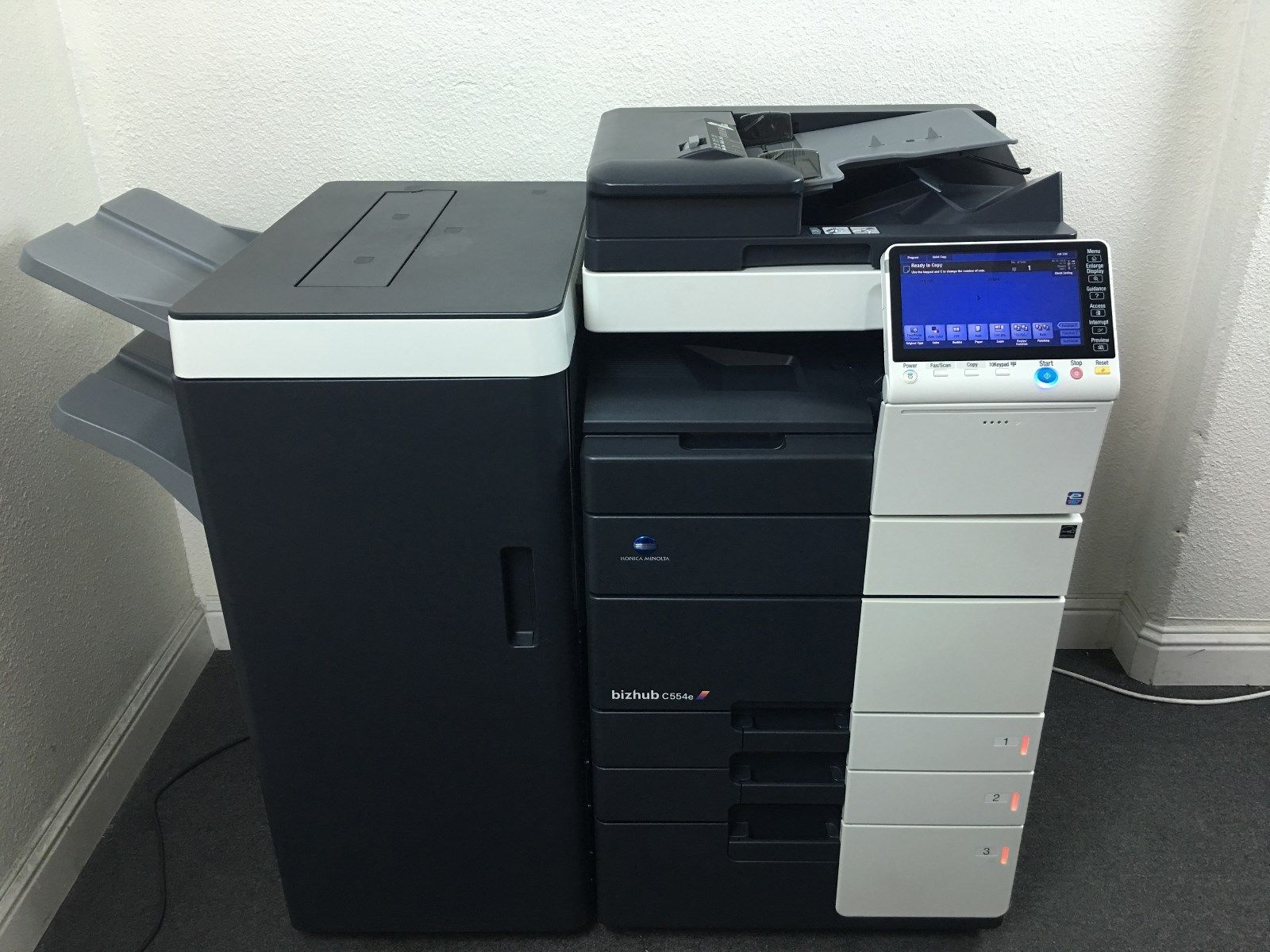 Konica Minolta Bizhub C554e Color Copier Printer Scanner Network LOW 258k total by Koinca Minolta