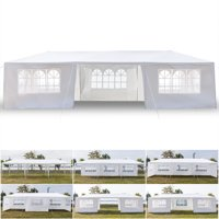 Clearance!Outdoor Patio Gazebo Tents with 7 Side Walls, 10' x 30' Heavy Duty Outdoor Party Wedding Tent for Outside , Waterproof Portable Sunshade Shelter, I7425