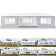 Clearance!Outdoor Patio Furniture and Gazebos Tent,10' x 30' Waterproof Canopy Tent with 7 Sidewalls, Heavy Duty Outdoor Party Tent, Portable Gazebo BBQ Shelter Canopy for Garden Beach Camping, L233