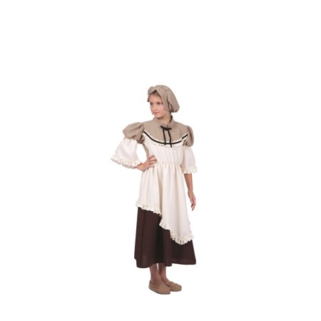 Deluxe Colonial Peasant Girl Child Costume