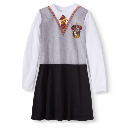 Harry Potter 'Hermione Granger Gryffindor House Uniform' Costume Pajama Nightgown (Little Girls & Big Girls) - Girl Scout Uniform Costume