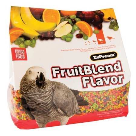 ZuPreem FruitBlend with Natural Fruit Flavors Parrot; Conure Bird Food, 12-Lb