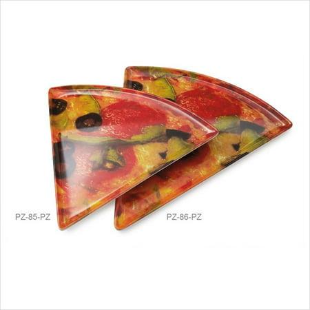 Creative Table 8.75 inch x 9 inch Triangle Pizza Plate Portofino Melamine/Case of 24