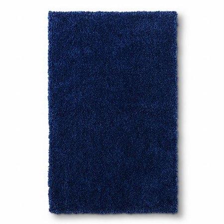 Circo Dark Blue Skid Resistant Shag Accent Throw Area Rug