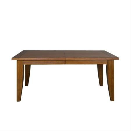 Rustic Oak & Black Finish Wood Dining Table Treasures (17-DR) Liberty Furniture