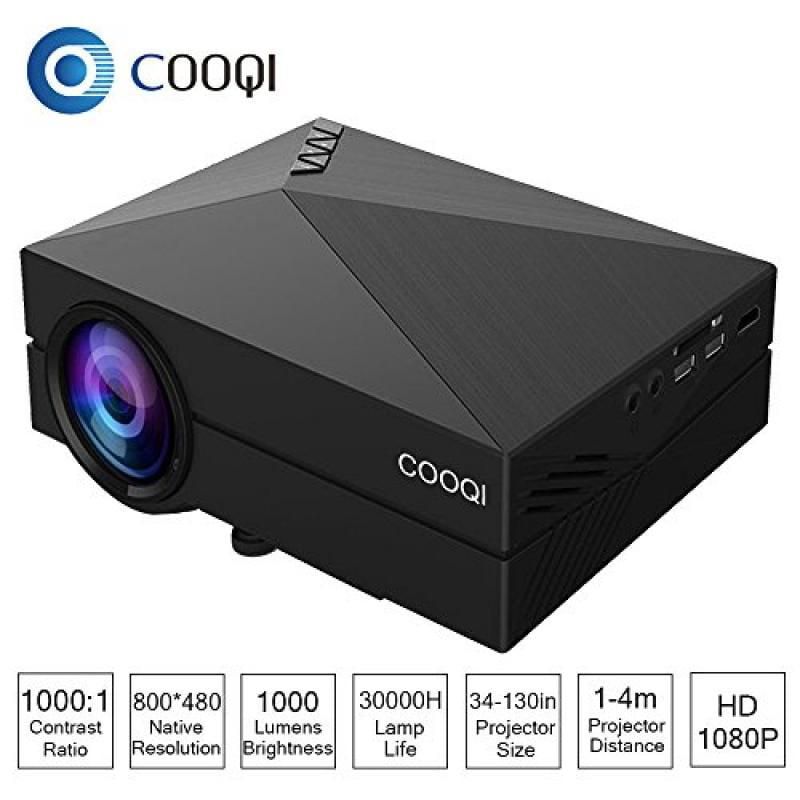 COOQI Projector, TFT LCD Mini Portable Pocket Projector S...