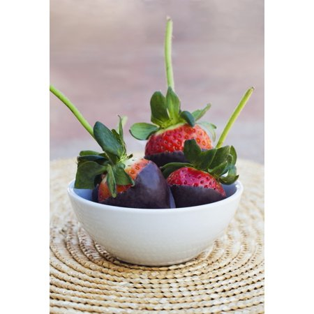 Chocolate Covered Strawberries In A Bowl Oahu Hawaii United States Of America Canvas Art   Brandon Tabiolo  Design Pics  24 X 36