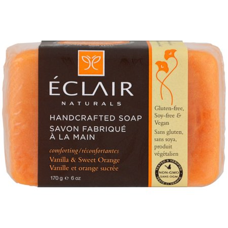 - Eclair Naturals Handcrafted Soap - Vanilla and Sweet Orange - 6 oz.