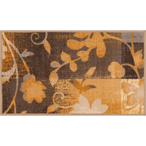 "Mainstays Monica Floral Accent Rug, Gold, 1'6"" x 2'6"""
