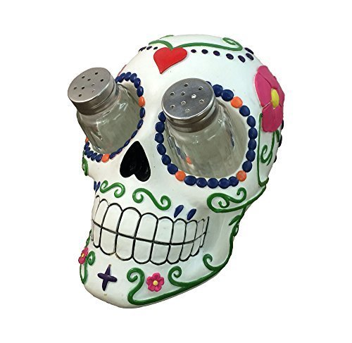 Sugar 'N Spice Sugar Skull Salt and Pepper Shaker Set By DWK