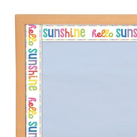 Fun Express - Sgs Hello Sunshine Bb Borders - Educational - Classroom Decorations - Bulletin Board Decor - 12 Pieces - Sun Bulletin