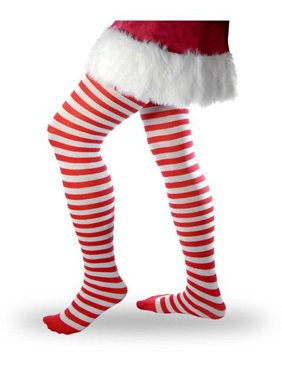 7604a3bf501 Product Image Women s Striped Tights - Red and White