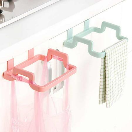 babydream1 Plastic Door Back Garbage Bag Rack Trash Rubbish Bag Holder Kitchen Bathroom Multifunction Shelf - image 5 of 9