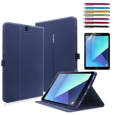 Mignova Galaxy Tab S3 9.7 Case - Ultra Slim Smart Stand Cover Case with Auto Wake / Sleep for Samsung Galaxy Tab S3 9.7 Inch 2017 Tablet (SM-T820/T825)+Screen Protector Film and Stylus Pen (Best Tab S3 Case)