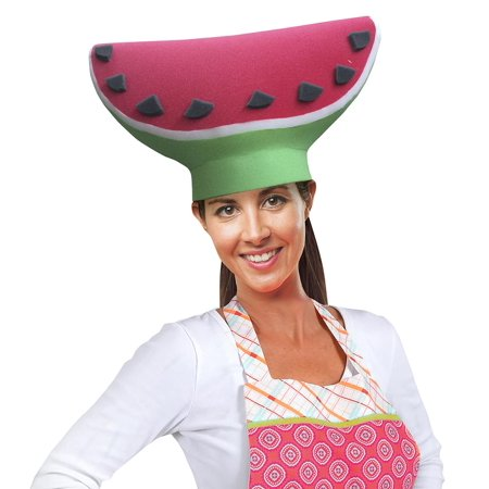 Watermelon Slice Adult Foam Costume Hat - One Size - Water Melon Costume