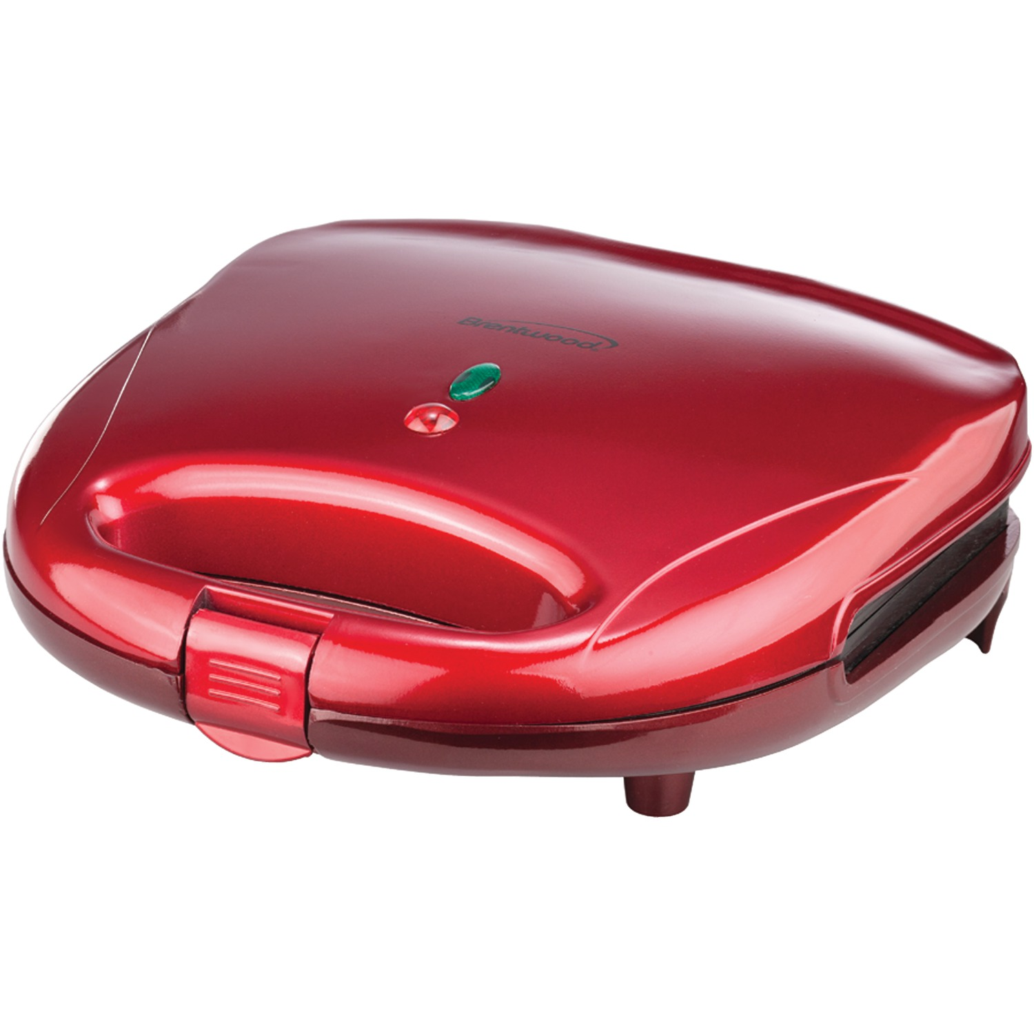 Brentwood Non-Stick Compact Dual Sandwich Maker, Red