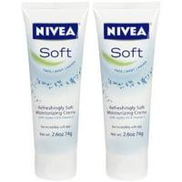 Nivea Refreshingly Soft Moisturizing Creme, Unisex, 2.6 Ounce