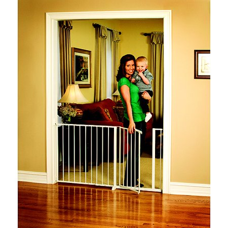 Regalo Extra Wide Baby Gate 37 Quot 59 Quot With Walk Through
