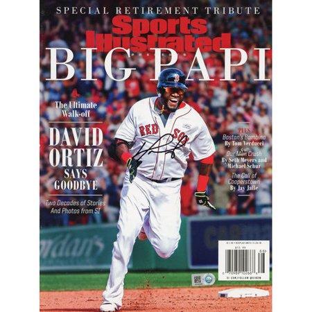 David Ortiz Boston Red Sox Autographed Ultimate Walk Off Retirement Sports Illustrated Magazine