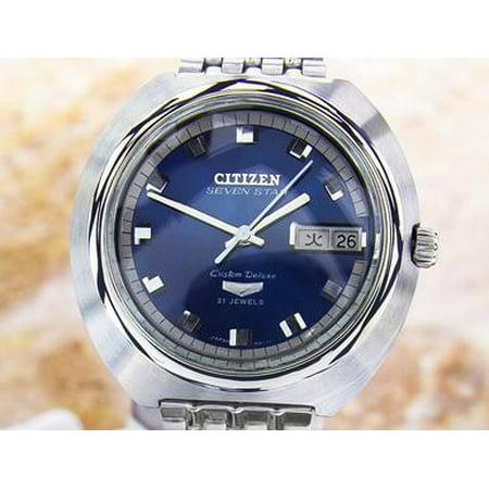 Citizen Seven Star Custom Deluxe Men's 39mm Stainless St 1970s Auto Watch SCX268 (Star Citizen Trades)