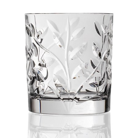 Lorenzo Import Laurus Collection Crystal Double Old Fashioned Glasses (Set of 6) ()