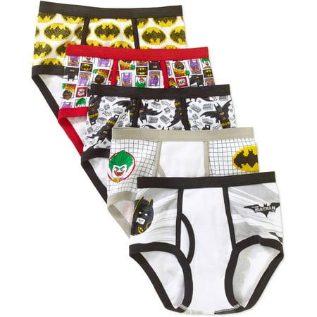 LEGO Batman, Boys Underwear, 5 Pack Briefs (Little Boys & Big Boys) ()