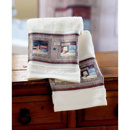 Set of 2 Country Bath Hand Towels -