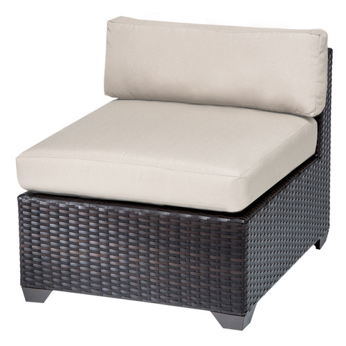 TK Classics Belle Armless Chair with Cushions