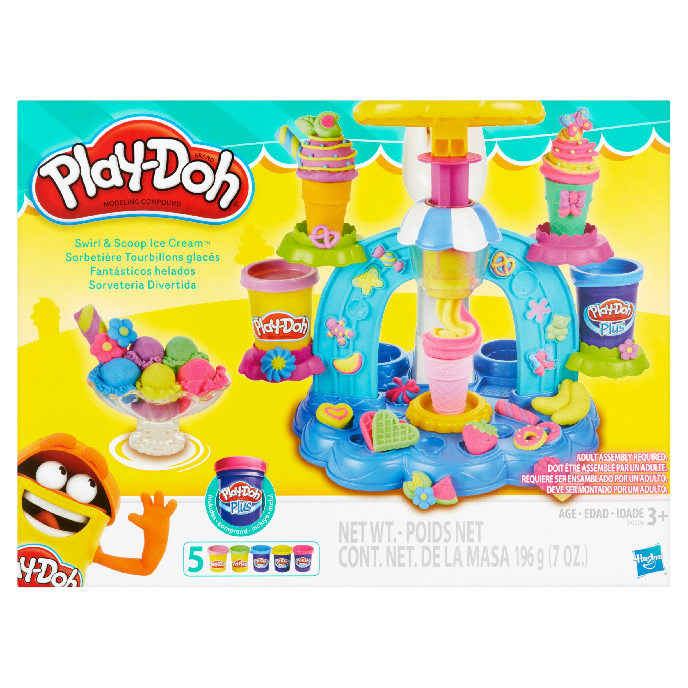 Play Doh Kitchen Creations Swirl N Scoop Ice Cream Food Set With 5